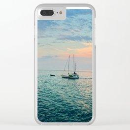 Hamilton Cove, Catalina Island Clear iPhone Case