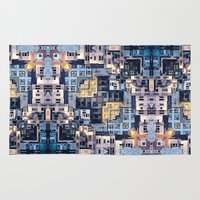 community Area & Throw Rugs featuring Community of Cubicles by Phil Perkins