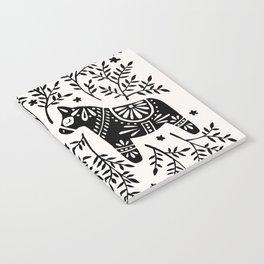 Swedish Dala Horses – Black Palette Notebook