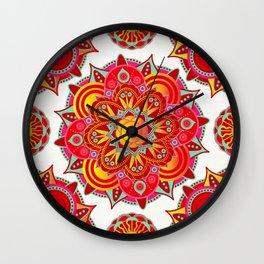 Root Chakra Mandala Wall Clock