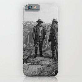 John Muir Teddy Roosevelt Yosemite National Park iPhone Case