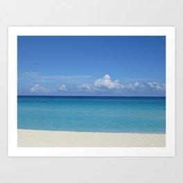 CUBA CARIBBEAN BLUES Art Print