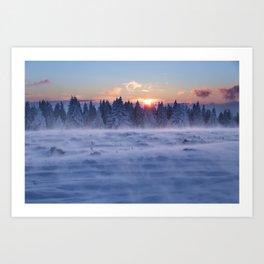 Freezing But Breathtaking Experience Art Print