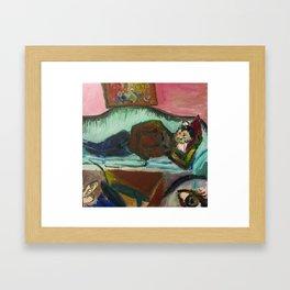 Sofa Lover Framed Art Print
