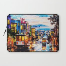 Russian Hill, San Francisco with view of Bay Laptop Sleeve