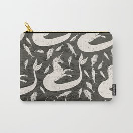 Unicorn Mermaid battle at Sea Carry-All Pouch