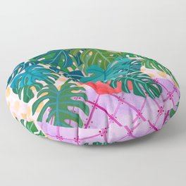 Monstera Houseplant Painting Floor Pillow