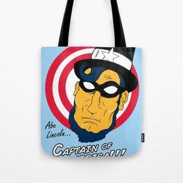 Abe, Captain of America Tote Bag