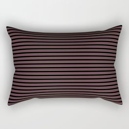 Thin Gold Pinstripe on Royal Purple and Black Rectangular Pillow