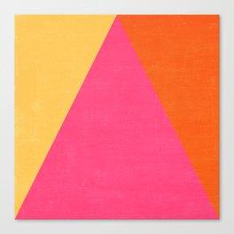 mod triangles - summer  Canvas Print