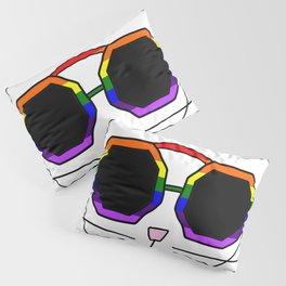 Cat Rainbow Sunglasses Pillow Sham