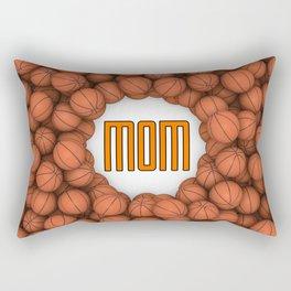 Basketball Mom / 3D render of hundreds of basketballs framing Mom text Rectangular Pillow