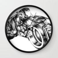 tron Wall Clocks featuring tron by liz williams