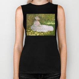 Springtime by Claude Monet Biker Tank
