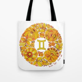 Gemini in Petrykivka style (with signature) Tote Bag