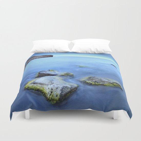 """Blue sunset"". Cabo de Gata Natural Park Duvet Cover"