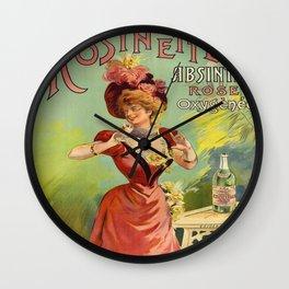 Vintage poster - Rosinette Absinthe Wall Clock