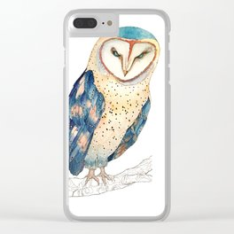 The colourful barn owl Clear iPhone Case