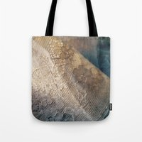 lace Tote Bags featuring lace by messy bed studio