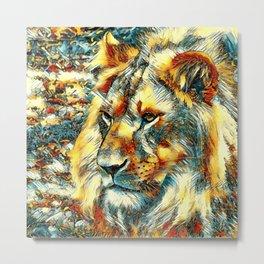 AnimalArt_Lion_20170609_by_JAMColorsSpecial Metal Print