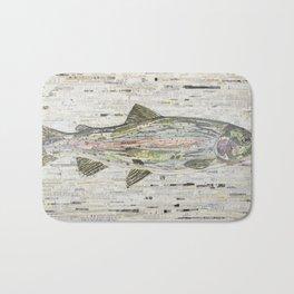 Rainbow Trout Collage (v2) by C.E. White Bath Mat