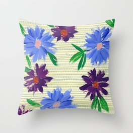 Retro Spring Throw Pillow