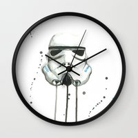 stormtrooper Wall Clocks featuring Stormtrooper by McCoy
