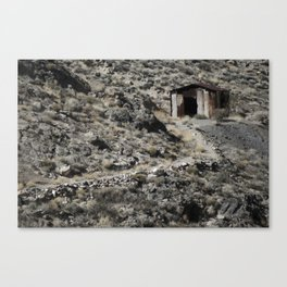 A lonely home in the hills. Canvas Print