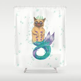 The Little Pugmaid Shower Curtain