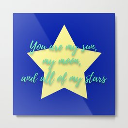 Nursery Quotes Metal Print
