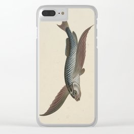 Vintage Flying Fish Clear iPhone Case