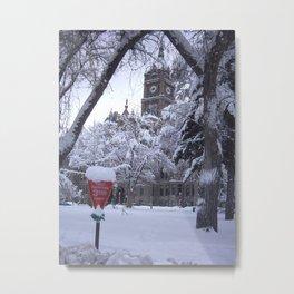Salt Lake City Holiday Metal Print