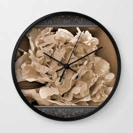 Peony named Shirley Temple Wall Clock