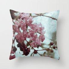 soft pink trumpet Throw Pillow