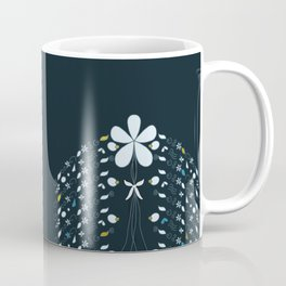 Night Garden Pattern Coffee Mug