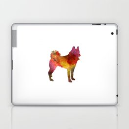 Russian European Laika in watercolor Laptop & iPad Skin