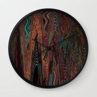 illusion Wall Clocks featuring Illusion by Marianna Shomero