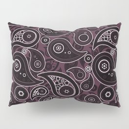 Eggplant Purple Paisley Pattern Pillow Sham