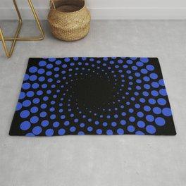 spiral in blue Rug