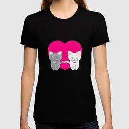 Valentine cats T-shirt