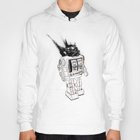 army Hoodies featuring robot army by Tom Kitchen