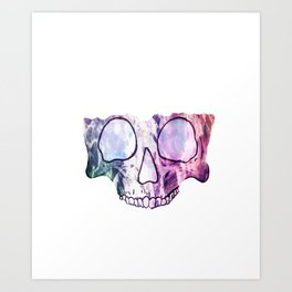 TechnoColor Skully Art Print