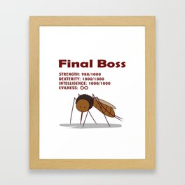 Final Boss - Red Letters Framed Art Print