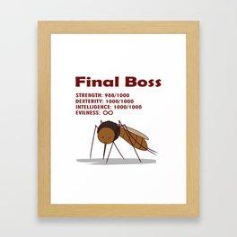 Final Boss - Red Letters Framed Art Print