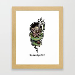Insanity n Art's I Scream For Bacon. Framed Art Print