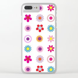 Floral Surprise Clear iPhone Case