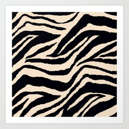 Zebra Animal Print Black and off White Pattern Kunstdrucke