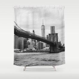 Monochrome Manhattan Shower Curtain