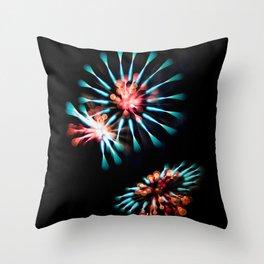 Creative Long Exposure Fireworks Throw Pillow