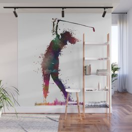 Golf player art 2 Wall Mural